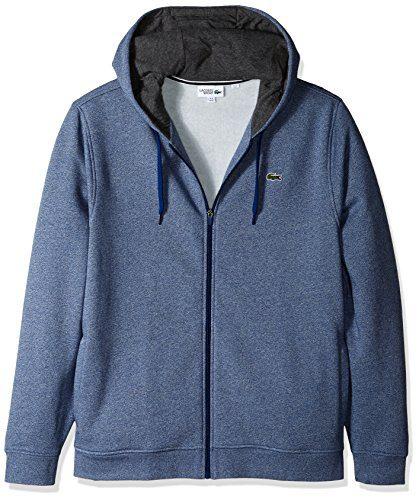 1f0790d60d26 Lacoste Men s Full Zip Hoodie Fleece Sweatshirt
