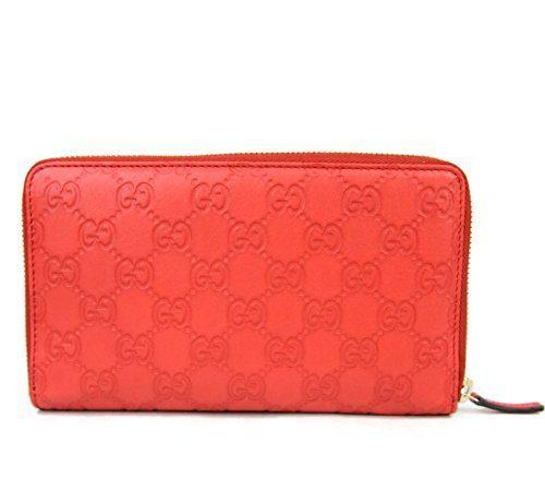 Gucci Women's Guccissima Leather Wallet Zip Around Travel Clutch (Blue)