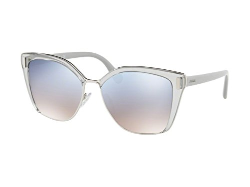 Prada Women's Square Glasses, Grey Silver/Blue Silver, One Size