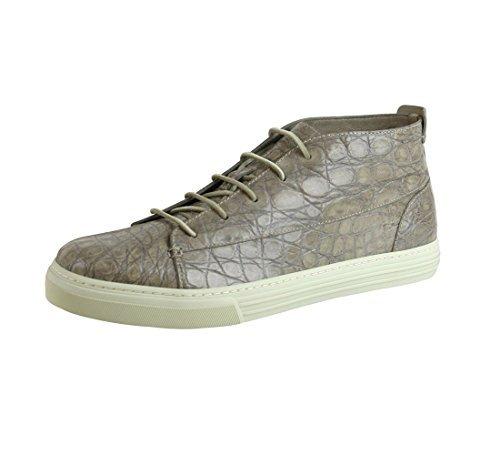 Gucci Men's Tan Crocodile High-top Fashion Sneakers (11 US/10.5 G)