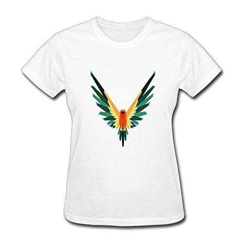 FASHIONAO Woman Funny Parrot Logo Logan Paul Logang Short Sleeve T Shirts