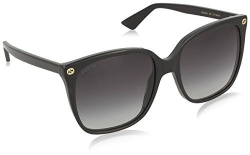 Gucci Women Black/Grey Sunglasses 57mm