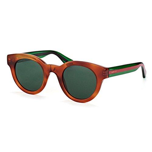 0d31595fbd Gucci Havana Plastic Round Sunglasses Green Lens Clout Wear Fashion ...