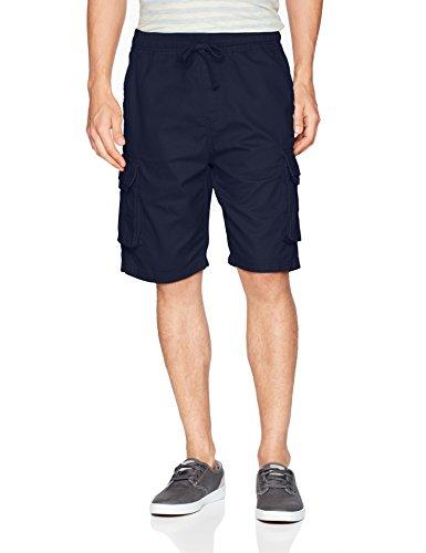 Southpole Men's Basic Twill Cargo Shorts, New Navy, 3X-Large