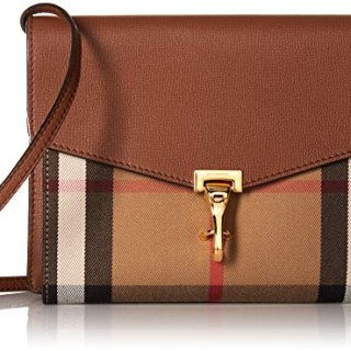 Burberry House Check Crossbody Bag (Womens) - Brown - One Size