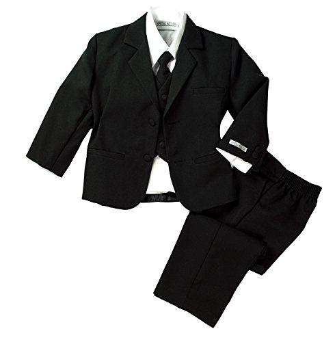 Spring Notion Baby Boys' Formal Black Dress Suit Set 12M (Medium)