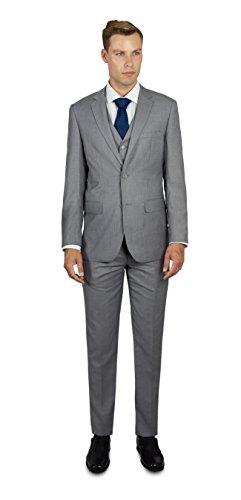Alain Dupetit Men's Three Piece TR Blend Suit 44R Light Grey