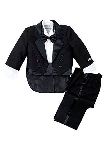 Spring Notion Baby Boys' Black Classic Tuxedo with Tail Large/12-18 Months