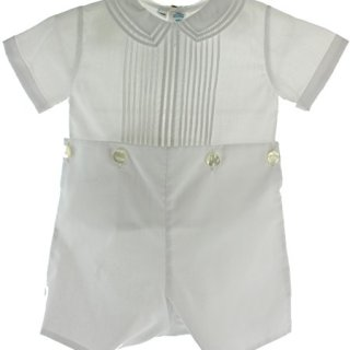 Boys White Christening Baptism Bobbie Suit Outfit