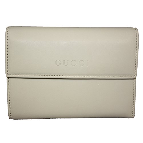 Gucci Soft Leather Continental Flap Wallet Off-White
