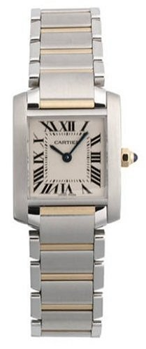 Cartier Women's Tank Francaise Stainless Steel and 18K Gold Watch