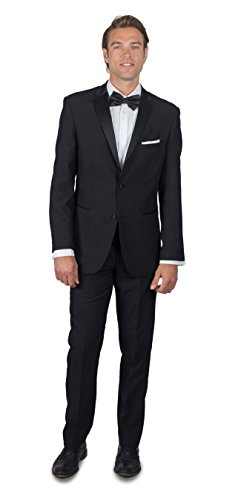 Alain Dupetit Men's Men's Black Tuxedo 36R Black