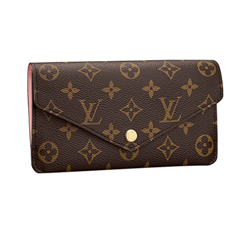 Louis Vuitton Monogram Canvas Jeanne Wallet Rose Balleria Made in France