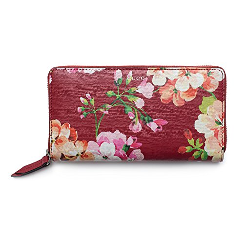 98317b6494e2 Gucci Shanghai Blooms Red Continental Wallet Leather Authentic Zip Around  New