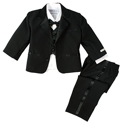 Spring Notion Baby Boys' Black Classic Fit Tuxedo Set, No Tail 24M (X-Large)