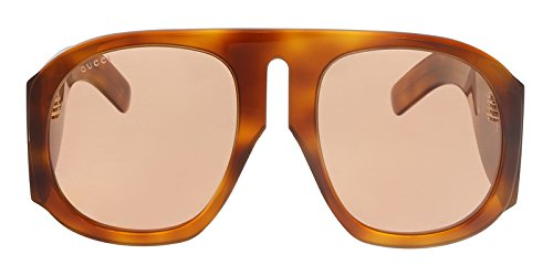 Gucci Havana/Yellow Oversized Sunglasses for