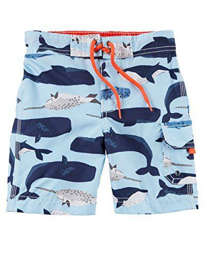 Carter's Baby Boys' Swim Trunks (24 Months, Blue Whale)