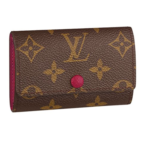 Louis Vuitton Monogram Canvas 6 Key Holder Key Ring Fuchsia M60701 Made in France