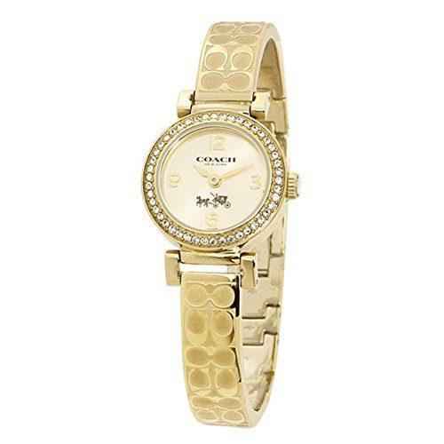 COACH Women's Madison Fashion Bangle Watch Gold/Gold Watch
