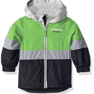 London Fog Baby Boys Chest Stripe Poly Lined Jacket, Bold Green, 12M