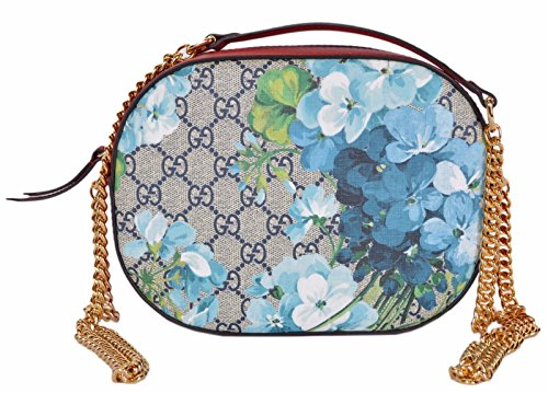 Gucci Women's GG Blooms Coated Canvas Small Crossbody Purse