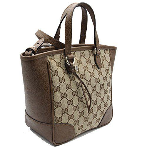 76f3c2b21d0e63 Home Shop Women Accessories Handbags & Wallets Gucci Bree Small GG Canvas  Tote Bag Nocciola Brown New Bag