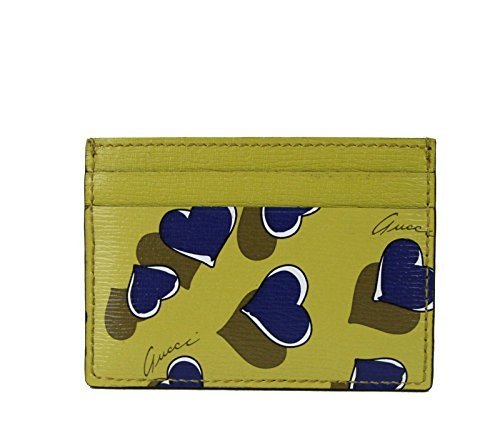 Gucci Heartbeat Collection Leather Card Case Wallet (Yellow)