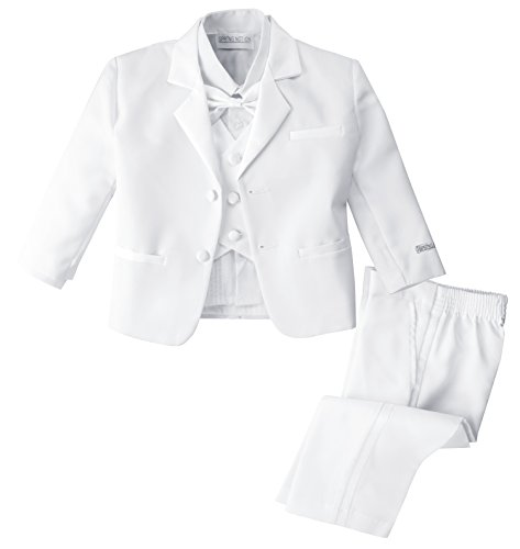 Spring Notion Baby Boys' White Classic Fit Tuxedo Set, No Tail 6M (Small)