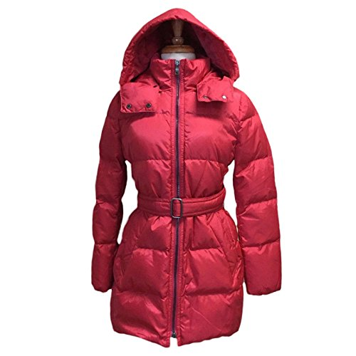 Coach Women's Center Zip Puffer Jacket Coat Pink Scarlet S L XL $498 (S)