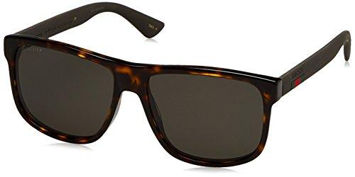 Gucci Men Tortoise/Grey Sunglasses 58mm