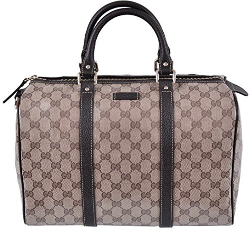 Gucci Women's Crystal Canvas & Leather Guccissima GG Boston Purse