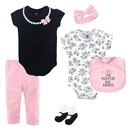 Hudson Baby Baby Multi Piece Clothing Set, Princess Piece, 6-9 Months