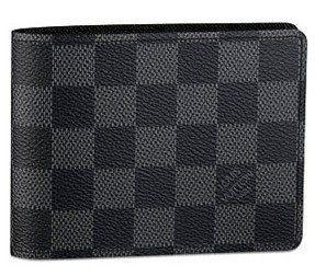 Authentic Louis Vuitton LV Damier Graphite Canvas Multiple Wallet Black/Grey
