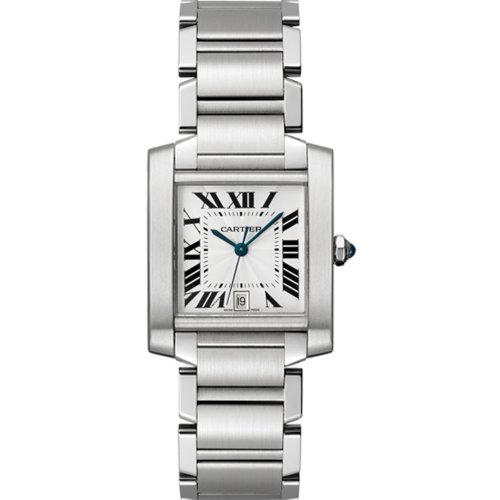 Cartier Men's Tank Francaise Stainless Steel Automatic Watch