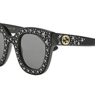 Gucci BLACK / SILVER Sunglasses
