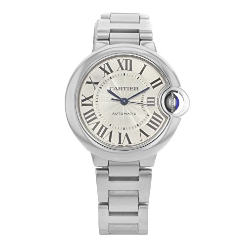 Cartier Ballon Bleu Automatic Silver Flinque Dial Ladies Watch