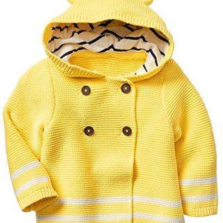 Baby Gap Factory Boys Girls Yellow Bear Hoodie Cardigan Sweater 6-12 Months