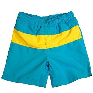 Bunz Kidz - Baby Boys Swimsuit, Turquoise, Yellow -24Months