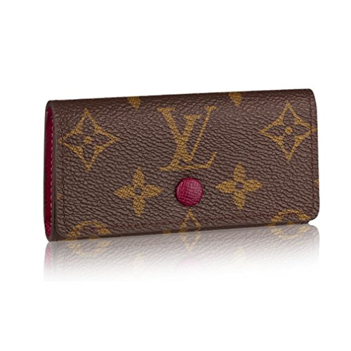 Louis Vuitton Monogram Canvas 4 Key Holder Wallets Made in France