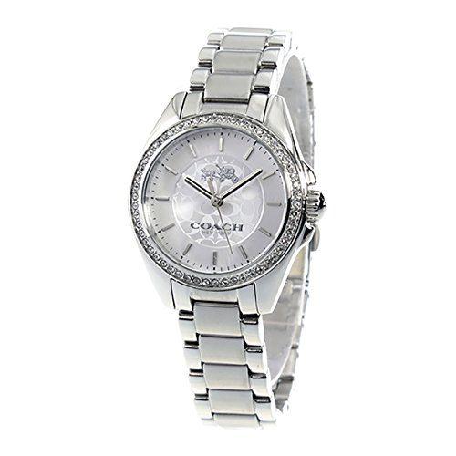 Coach Womens Mini Tristen Signature Stainless Bracelet Glitz Watch