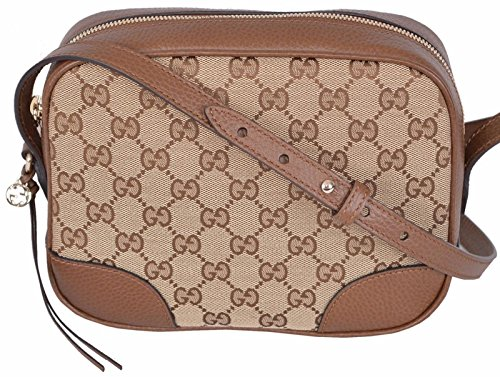 Gucci Women's Beige Canvas Leather GG Guccissima Bree Crossbody Purse