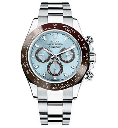 Rolex Daytona Platinum Watch Ice Blue Ceramic Unworn