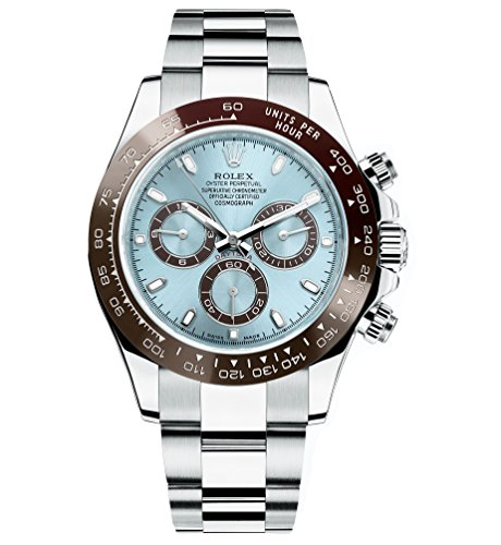 Rolex Daytona Platinum Watch Ice Blue Ceramic Unworn