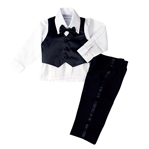61aa66102064 Spring Notion Baby Boys  Black Classic Fit Tuxedo Set