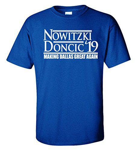 "WB SHIRTS Blue Dallas Dirk Doncic 19"" T-Shirt Adult"