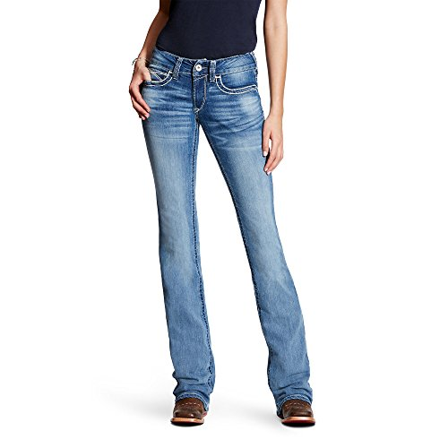 Ariat Women's R.E.A.L. Mid Rise Boot Cut Jean, Heirloom Boardwalk, 28 Long