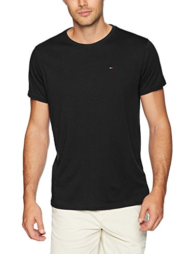Tommy Jeans Men's T-Shirt Original Short Sleeve Tee, Tommy Black, Medium