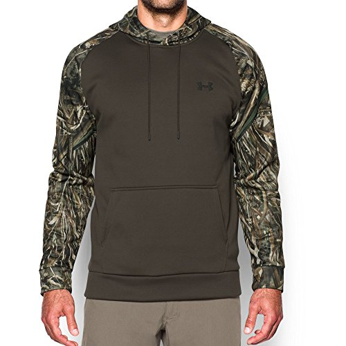 Under Armour Men's Armour Storm Fleece Camo Hoodie, Maverick Brown/Saddle, Med