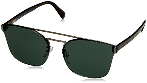 Prada Men's Matte Brown/Green Sunglasses