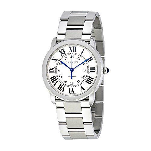 Cartier Ronde Solo Silver Opaline Ladies Watch
